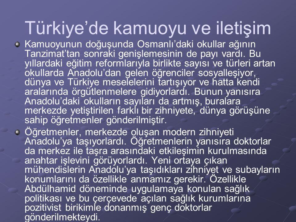 Türkiye'de kamuoyu ve iletişim