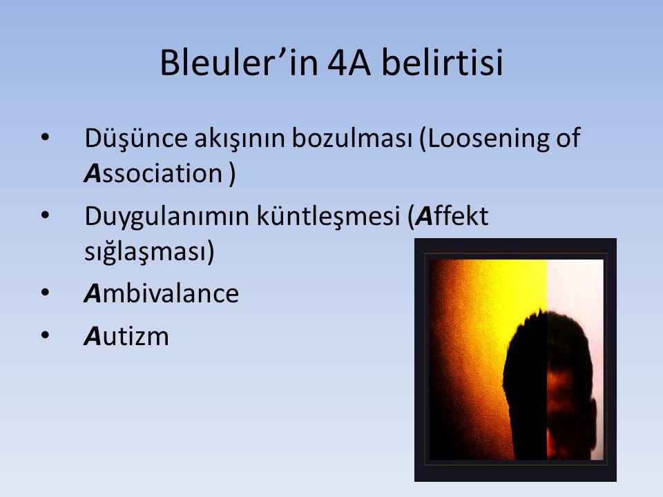 Bleuler'in 4A belirtisi