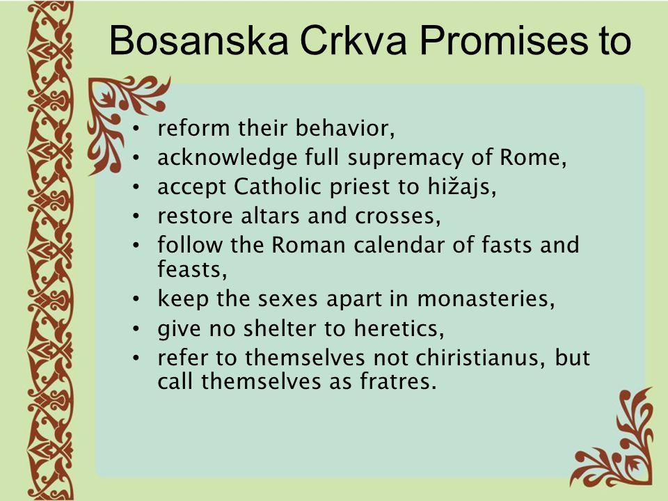 Bosanska Crkva Promises to