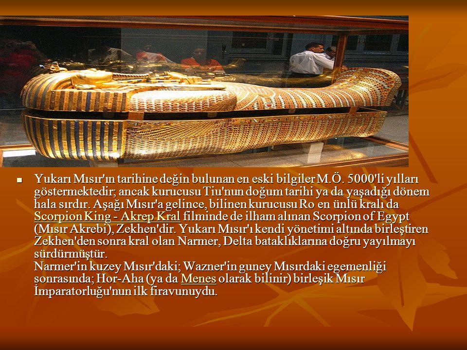 Yukarı Mısır ın tarihine değin bulunan en eski bilgiler M. Ö