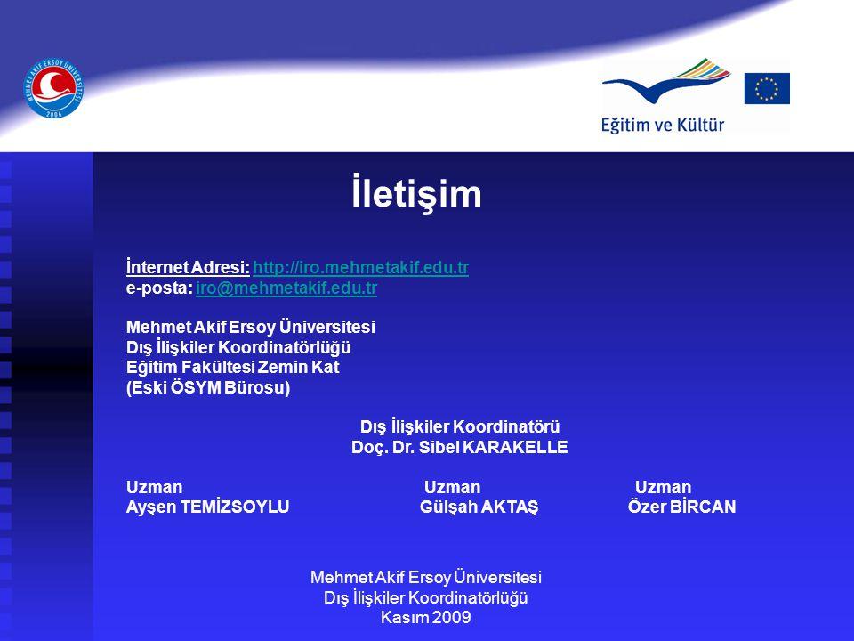 İletişim İnternet Adresi: http://iro.mehmetakif.edu.tr