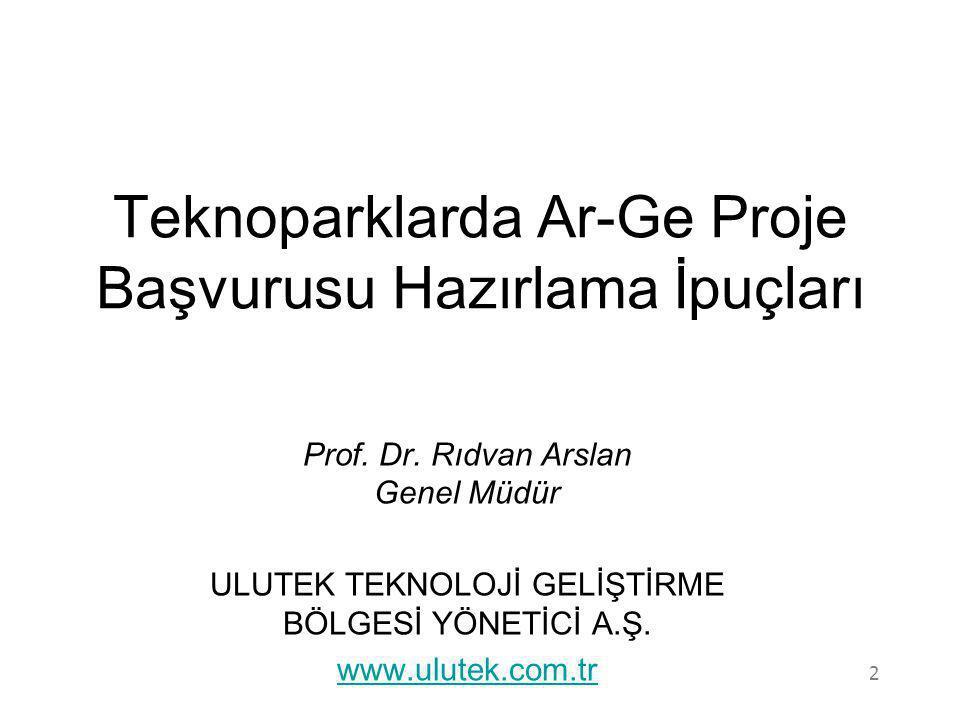 Teknoparklarda Ar-Ge Proje Başvurusu Hazırlama İpuçları