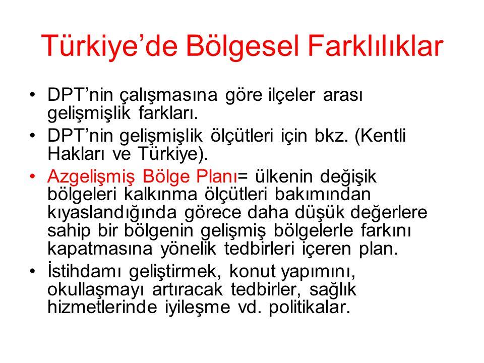 Türkiye'de Bölgesel Farklılıklar
