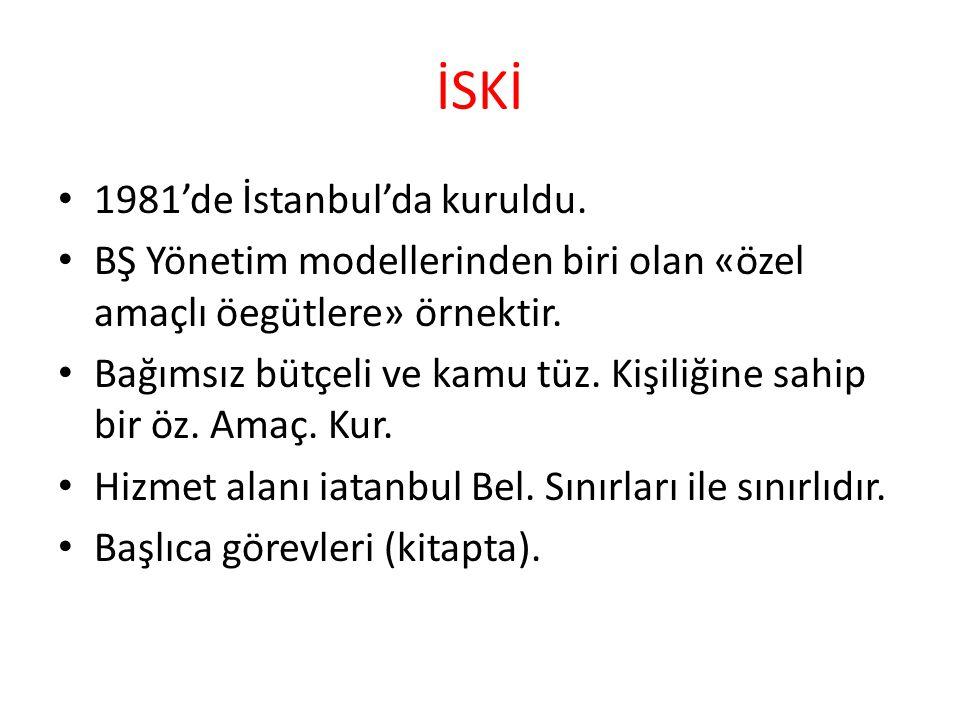 İSKİ 1981'de İstanbul'da kuruldu.