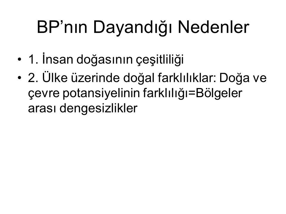 BP'nın Dayandığı Nedenler