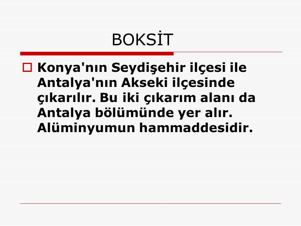 BOKSİT