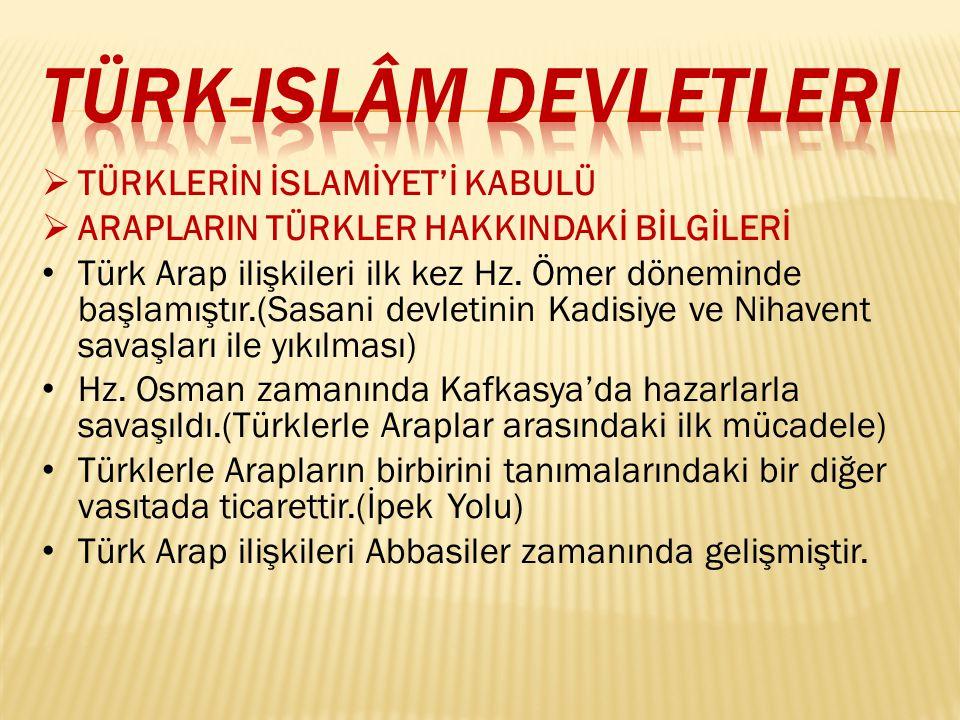 Türk-islâm devletleri