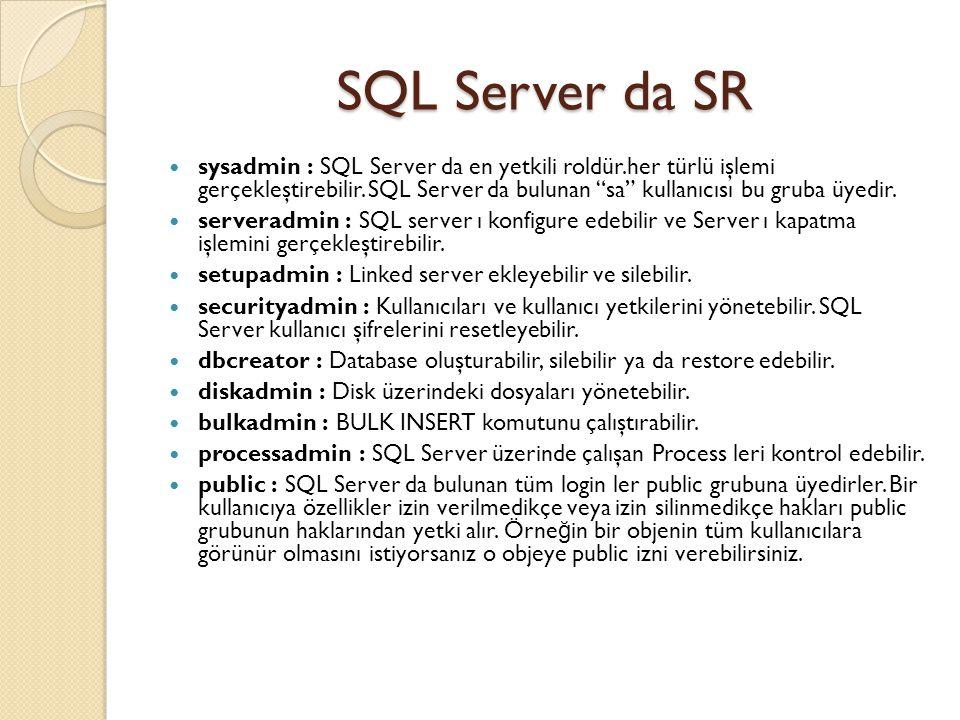 SQL Server da SR