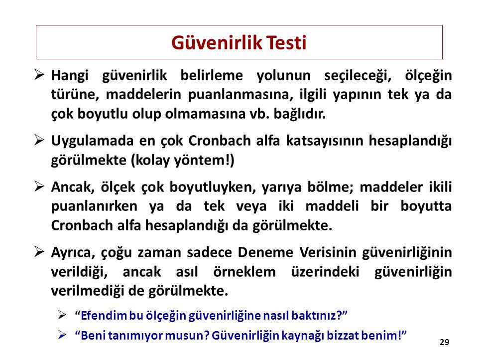 Güvenirlik Testi