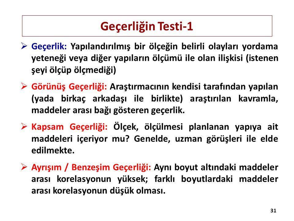 Geçerliğin Testi-1