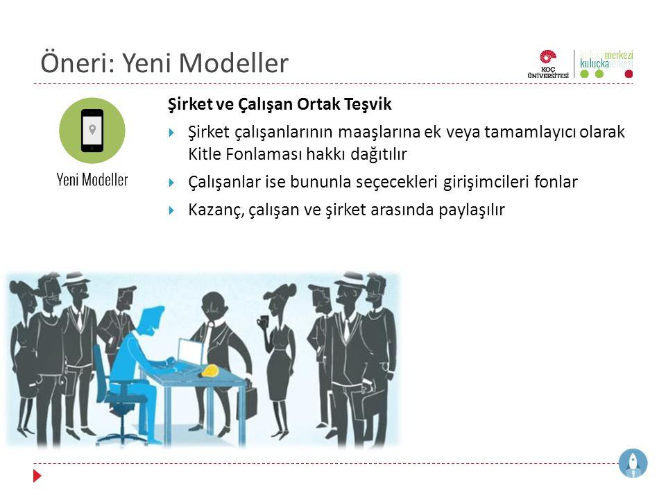 Öneri: Yeni Modeller Şirket ve Çalışan Ortak Teşvik