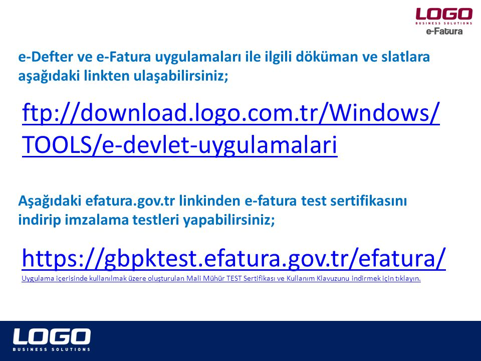ftp://download.logo.com.tr/Windows/TOOLS/e-devlet-uygulamalari