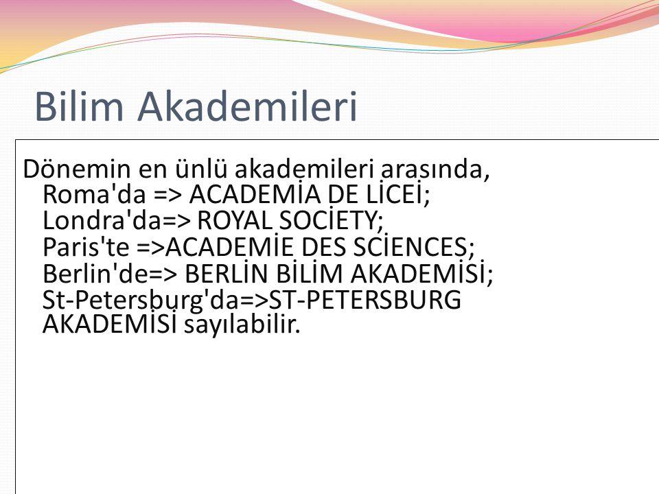 Bilim Akademileri