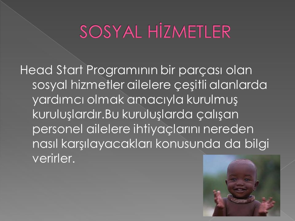 SOSYAL HİZMETLER