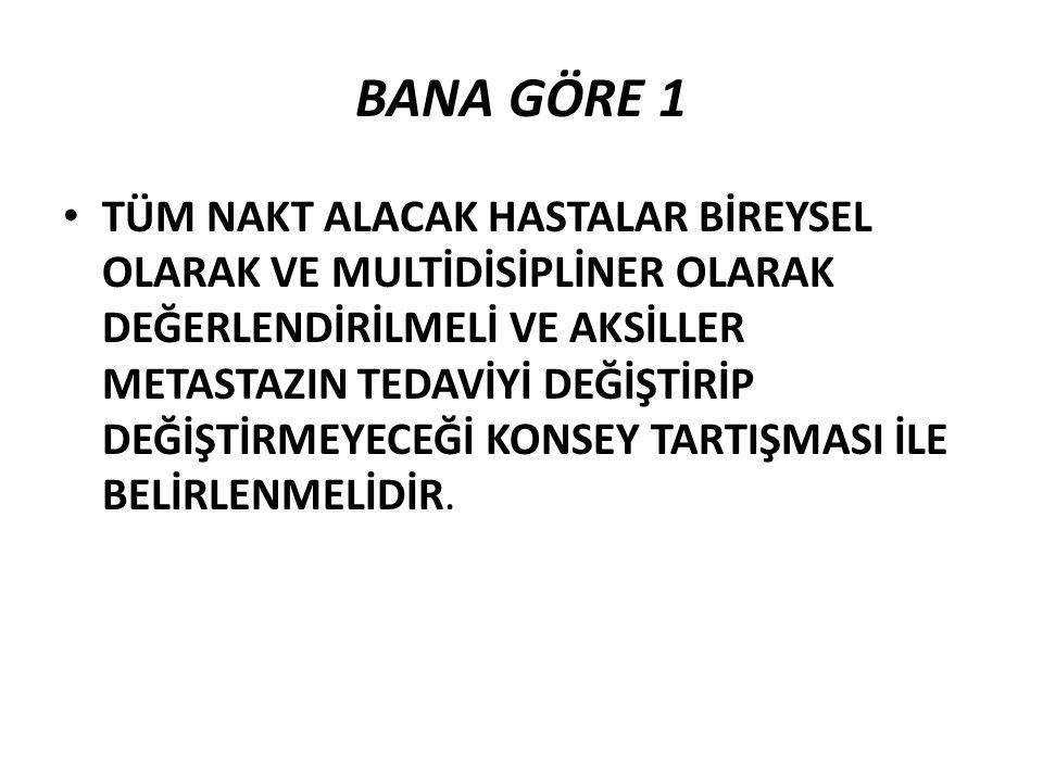 BANA GÖRE 1