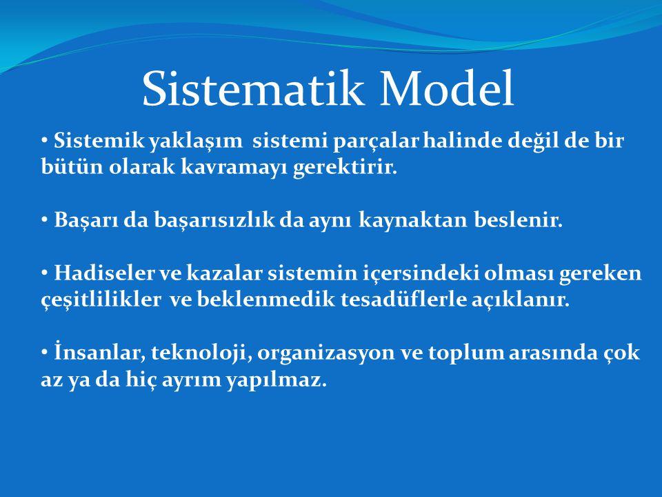 Sistematik Model Sistemik yaklaşım sistemi parçalar halinde değil de bir bütün olarak kavramayı gerektirir.