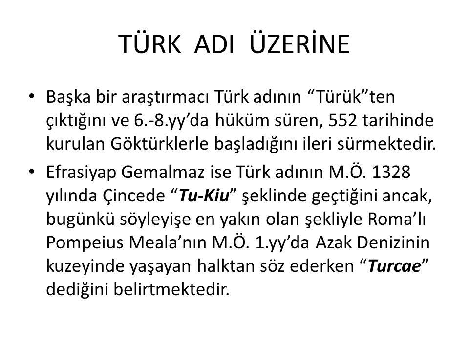 TÜRK ADI ÜZERİNE