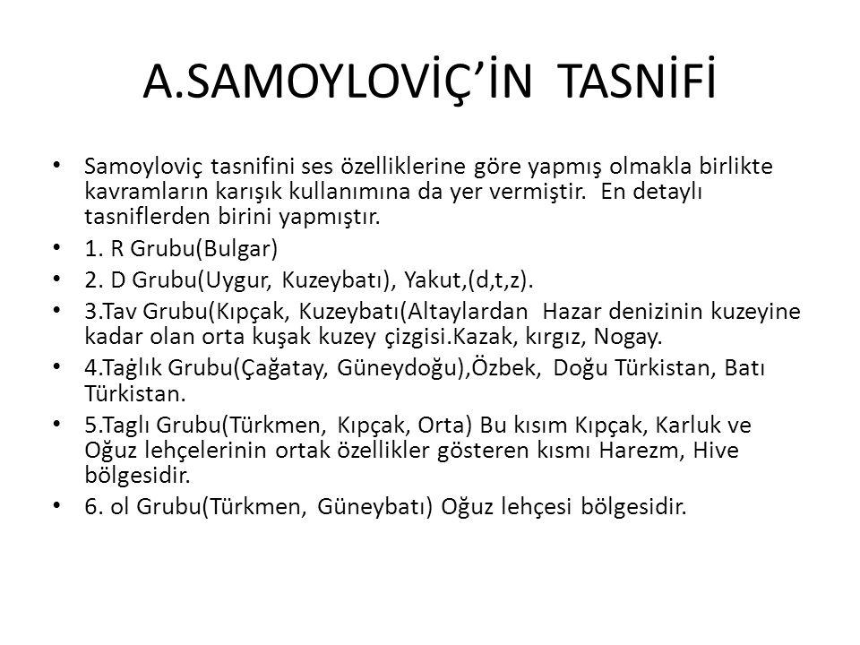 A.SAMOYLOVİÇ'İN TASNİFİ