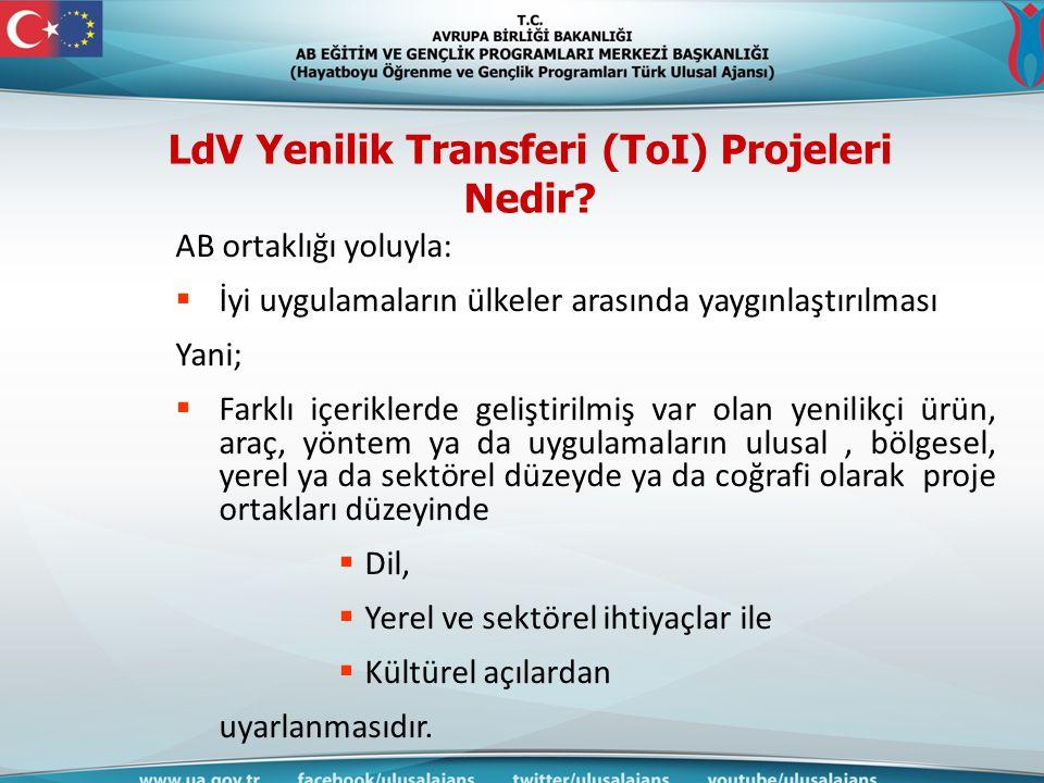 LdV Yenilik Transferi (ToI) Projeleri Nedir