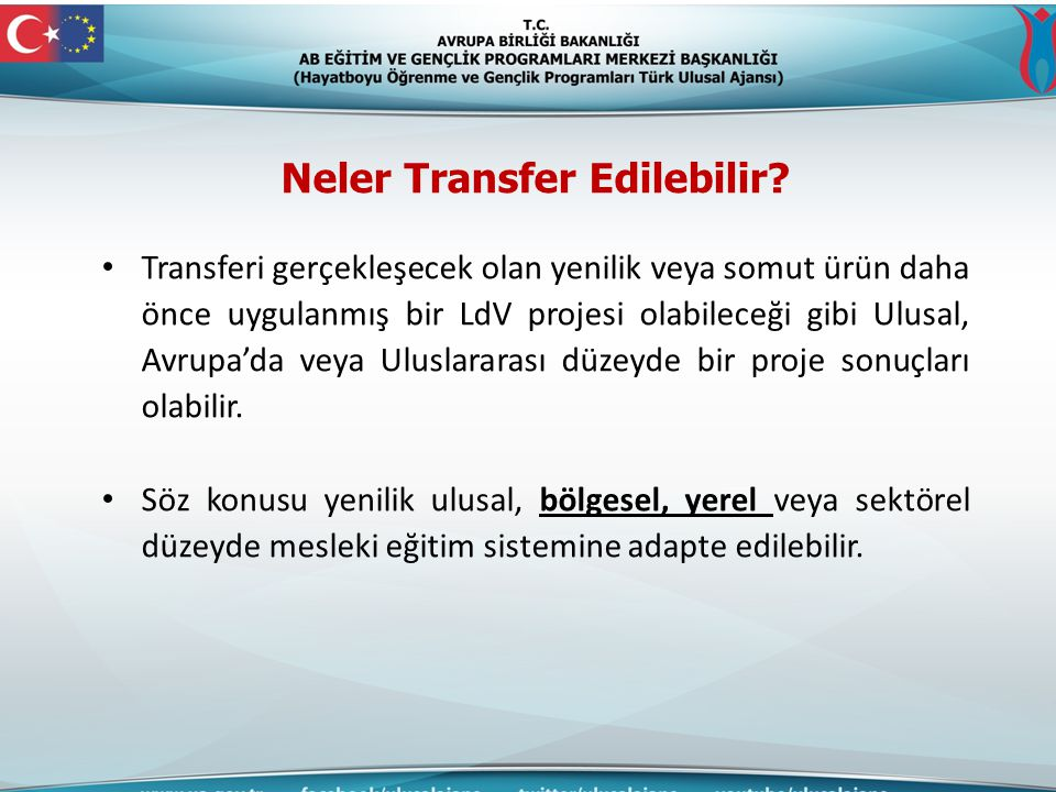 Neler Transfer Edilebilir