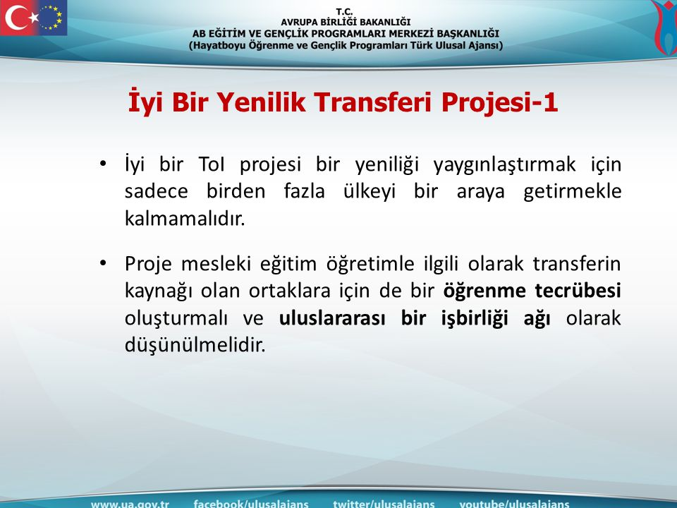 İyi Bir Yenilik Transferi Projesi-1