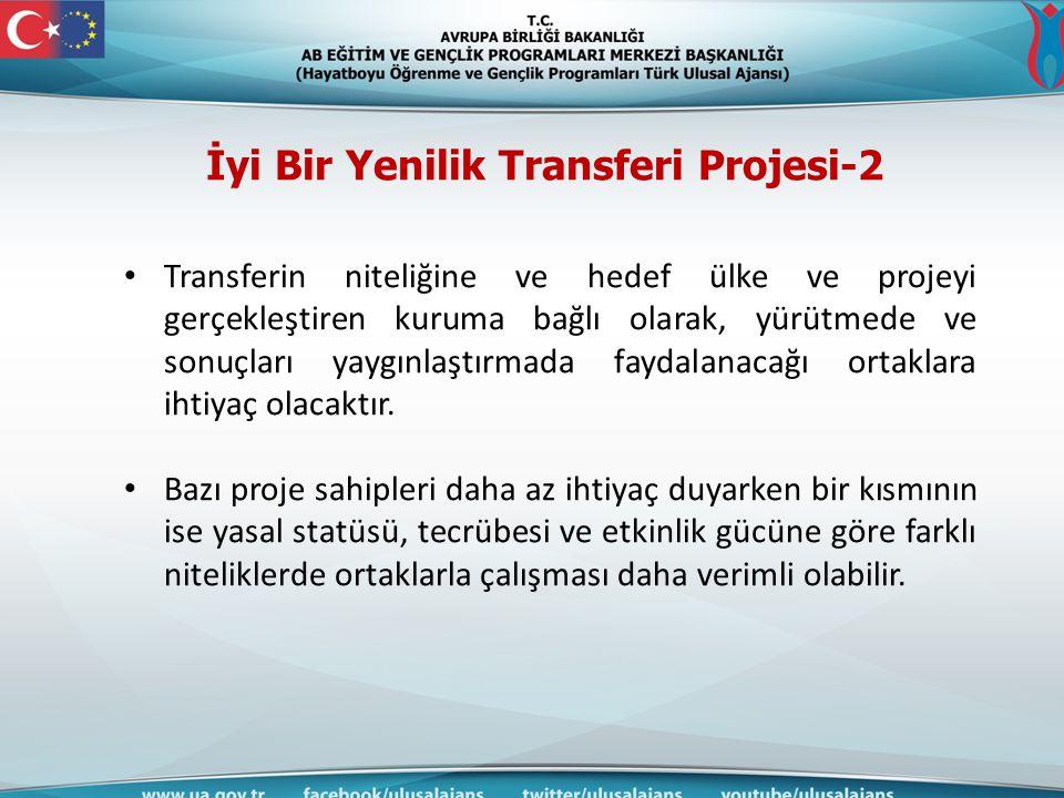 İyi Bir Yenilik Transferi Projesi-2