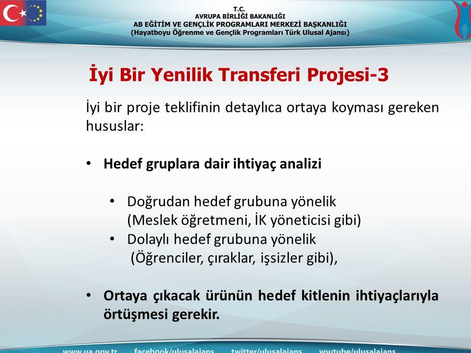 İyi Bir Yenilik Transferi Projesi-3