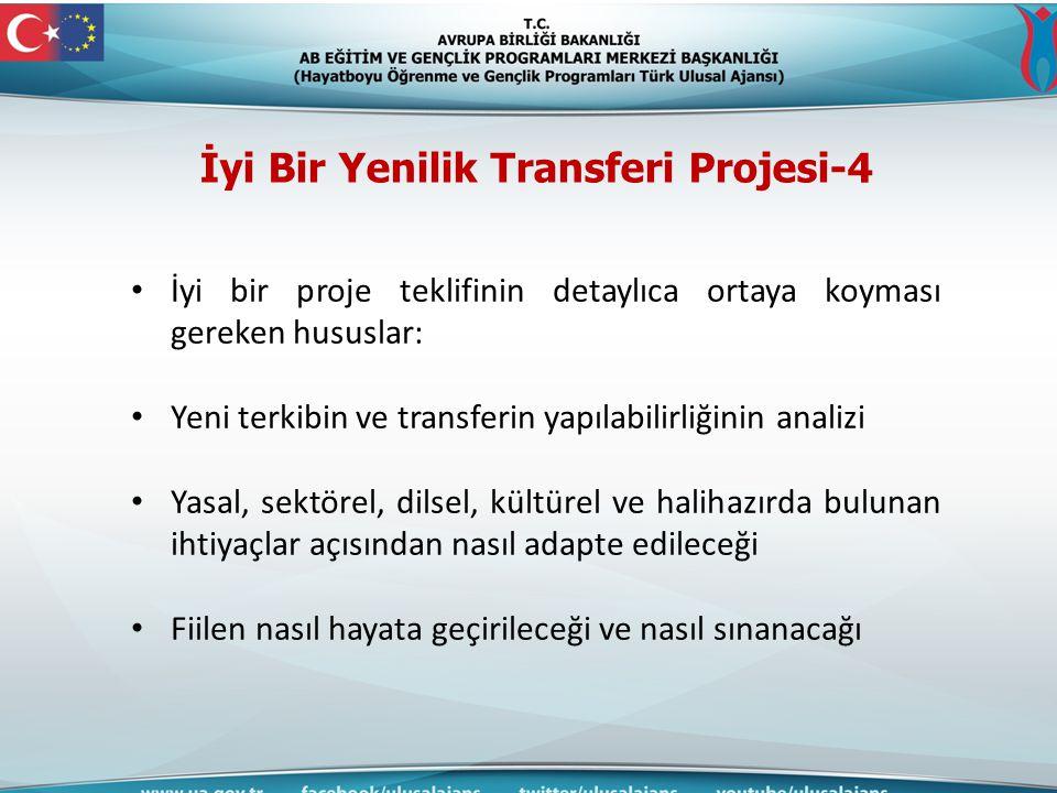 İyi Bir Yenilik Transferi Projesi-4