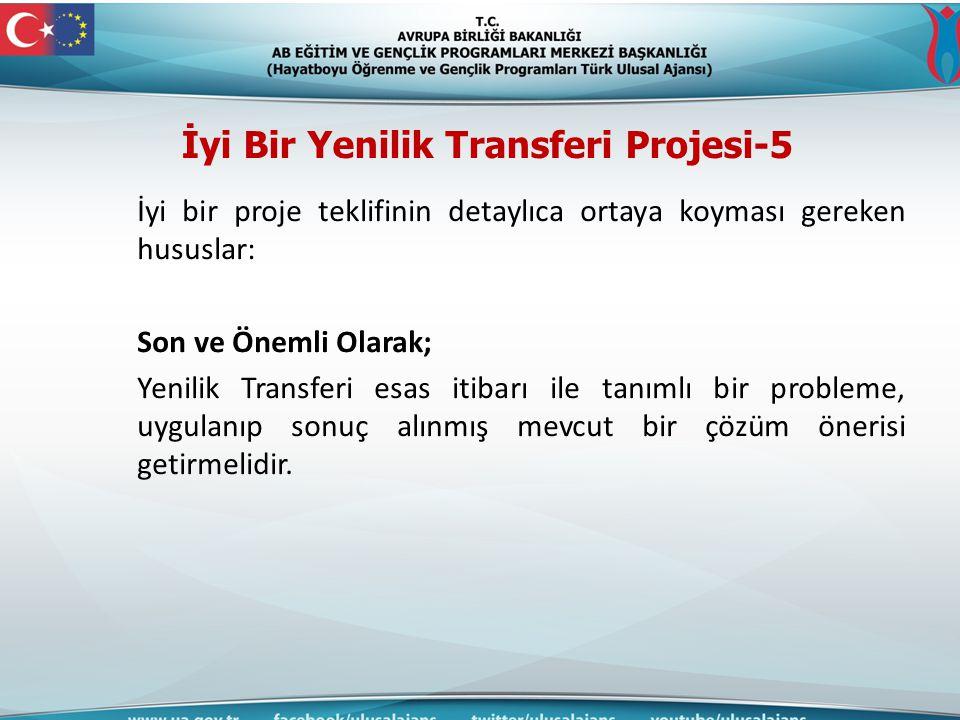 İyi Bir Yenilik Transferi Projesi-5