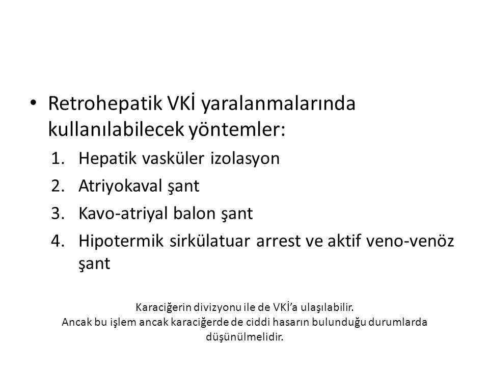 Karaciğerin divizyonu ile de VKİ'a ulaşılabilir.