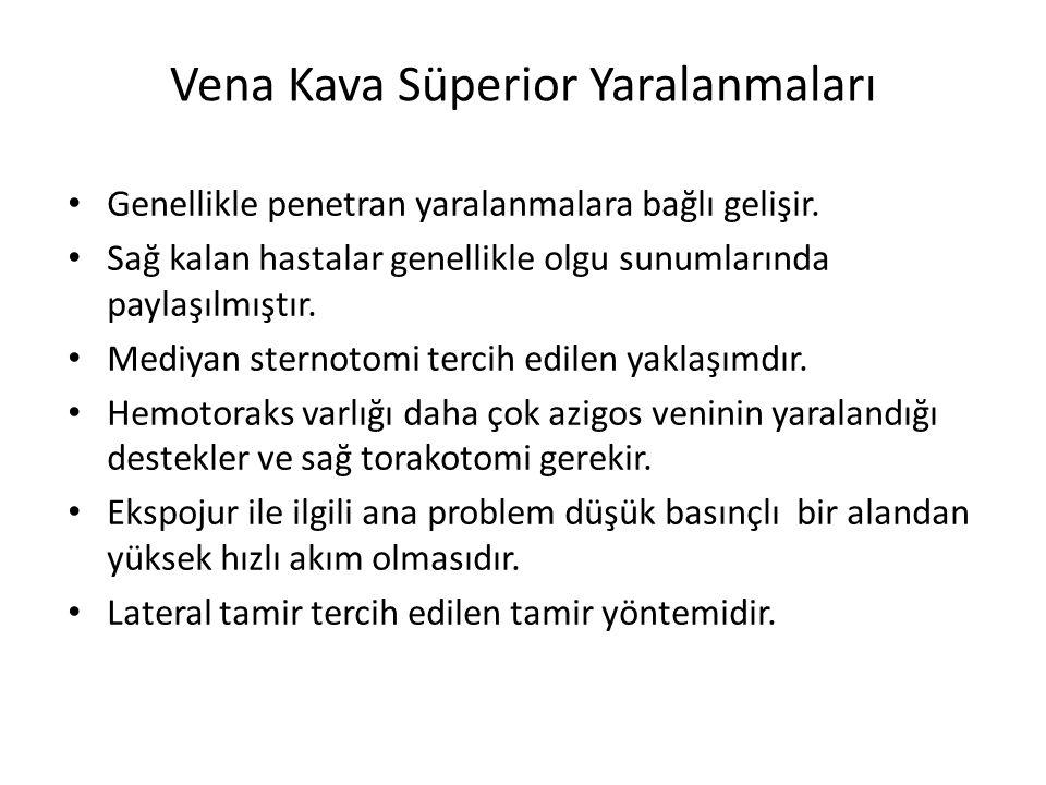Vena Kava Süperior Yaralanmaları