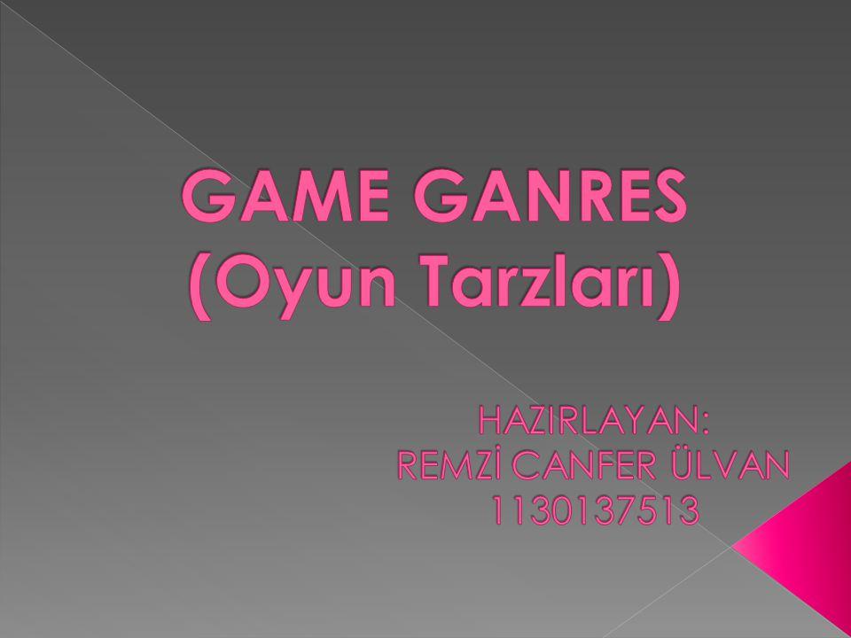 GAME GANRES (Oyun Tarzları)