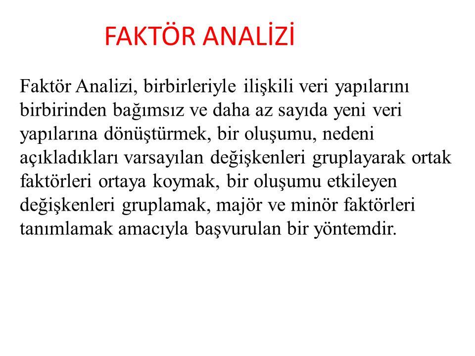 FAKTÖR ANALİZİ