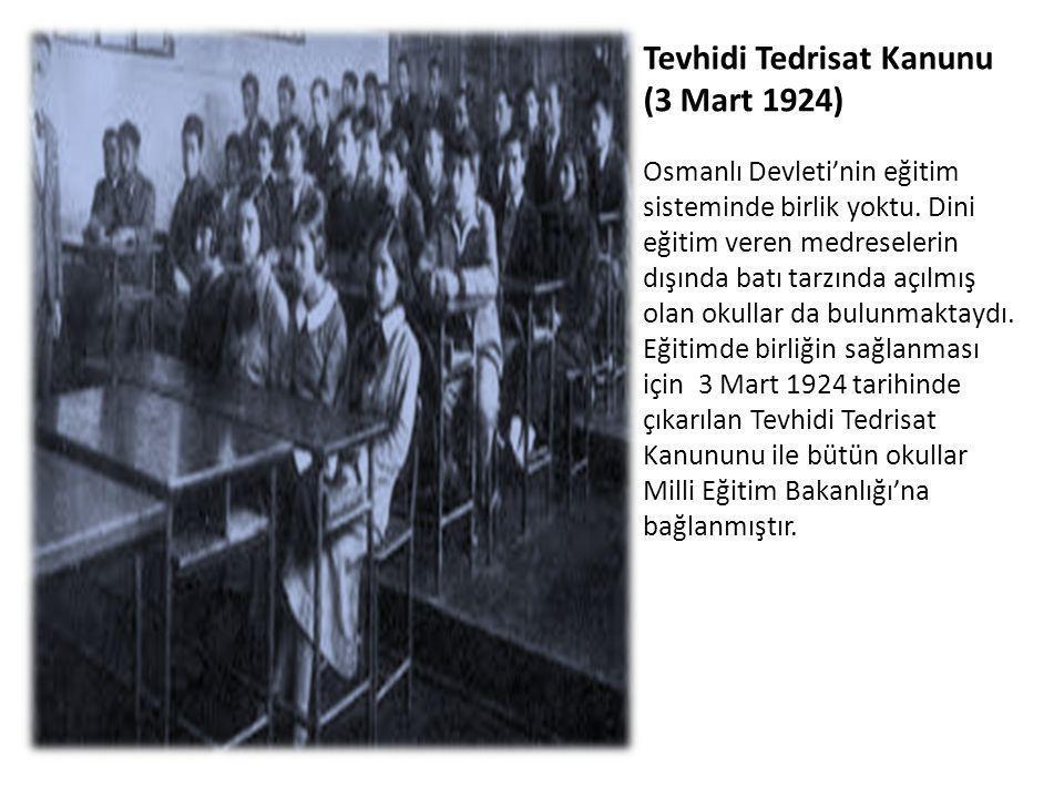 Tevhidi Tedrisat Kanunu (3 Mart 1924)