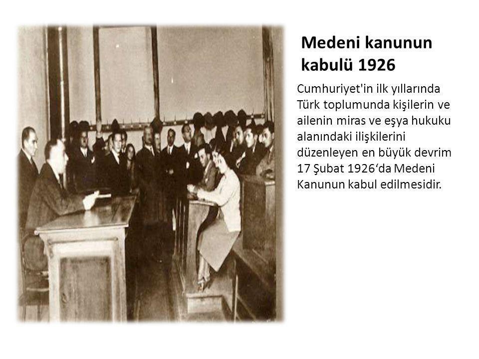 Medeni kanunun kabulü 1926