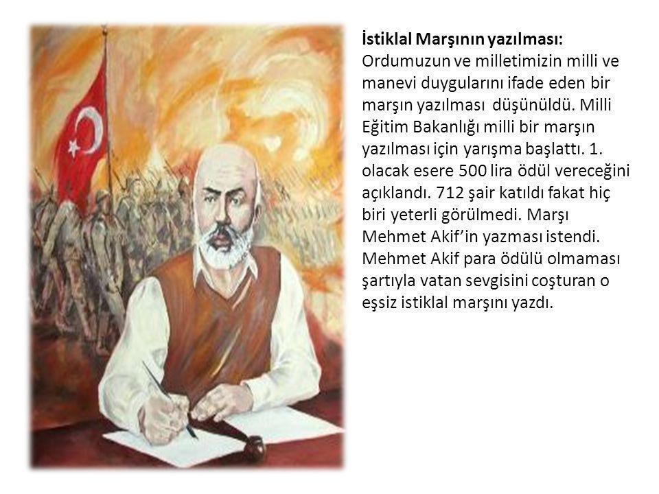 İstiklal Marşının yazılması: