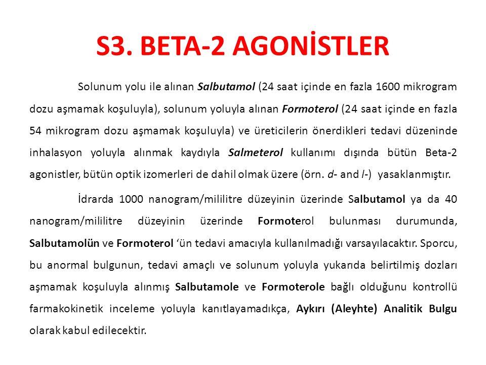 S3. BETA-2 AGONİSTLER