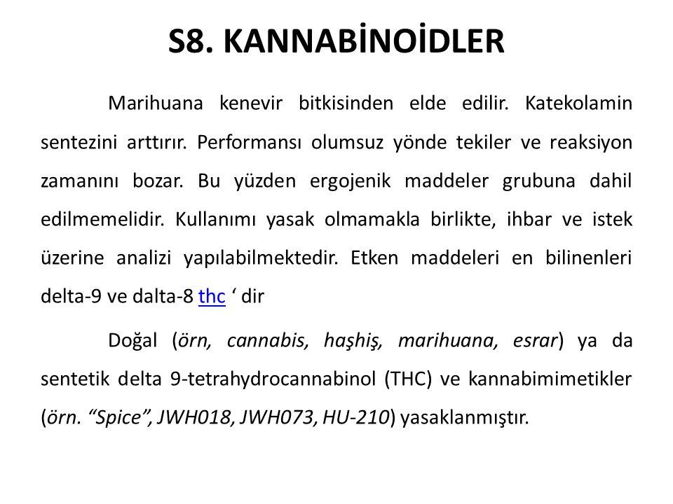 S8. KANNABİNOİDLER