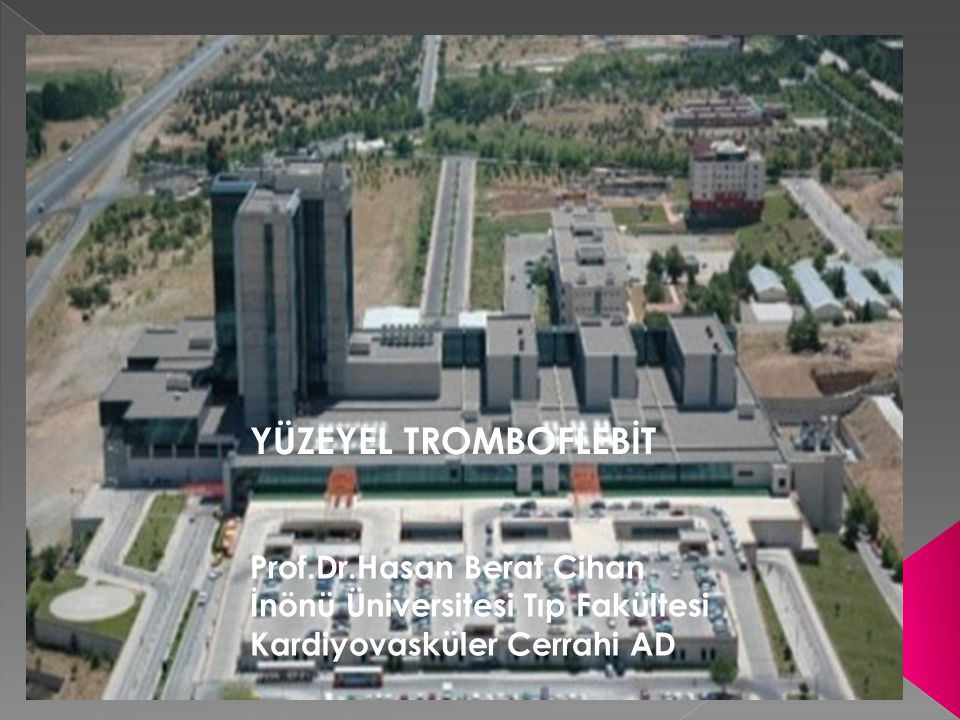 YÜZEYEL TROMBOFLEBİT Prof.Dr.Hasan Berat Cihan