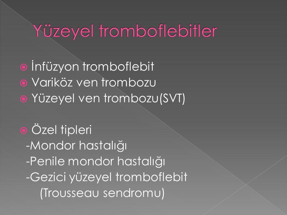 Yüzeyel tromboflebitler