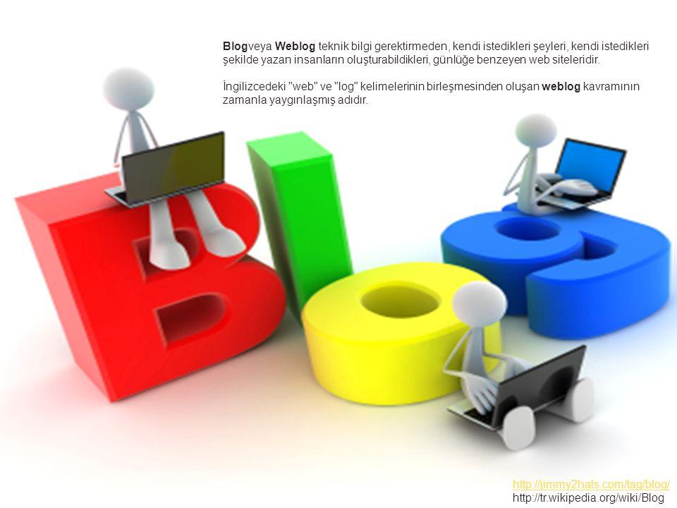 Blogveya Weblog teknik bilgi gerektirmeden, kendi istedikleri şeyleri, kendi istedikleri şekilde yazan insanların oluşturabildikleri, günlüğe benzeyen web siteleridir.