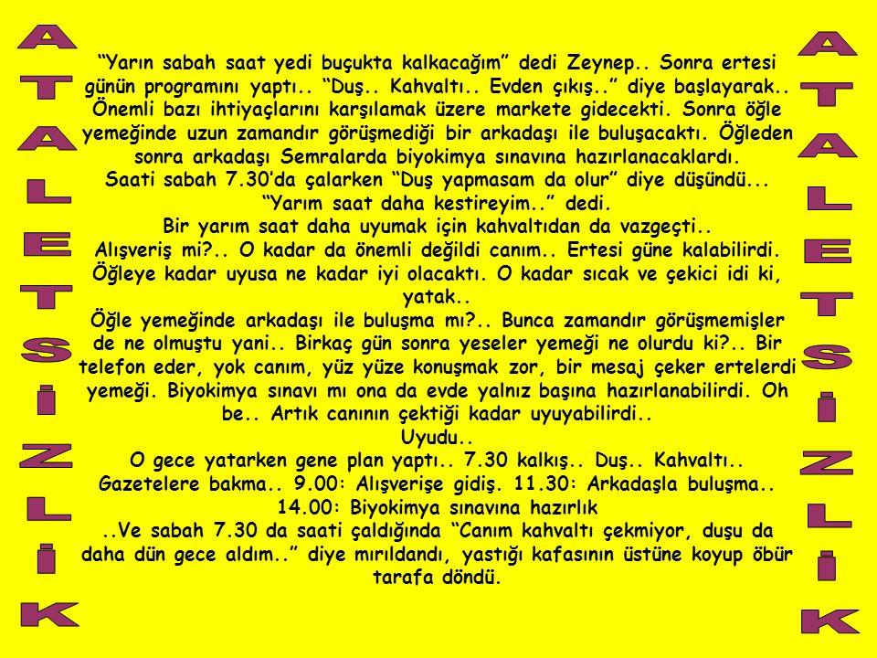 ATALETSİZLİK ATALETSİZLİK