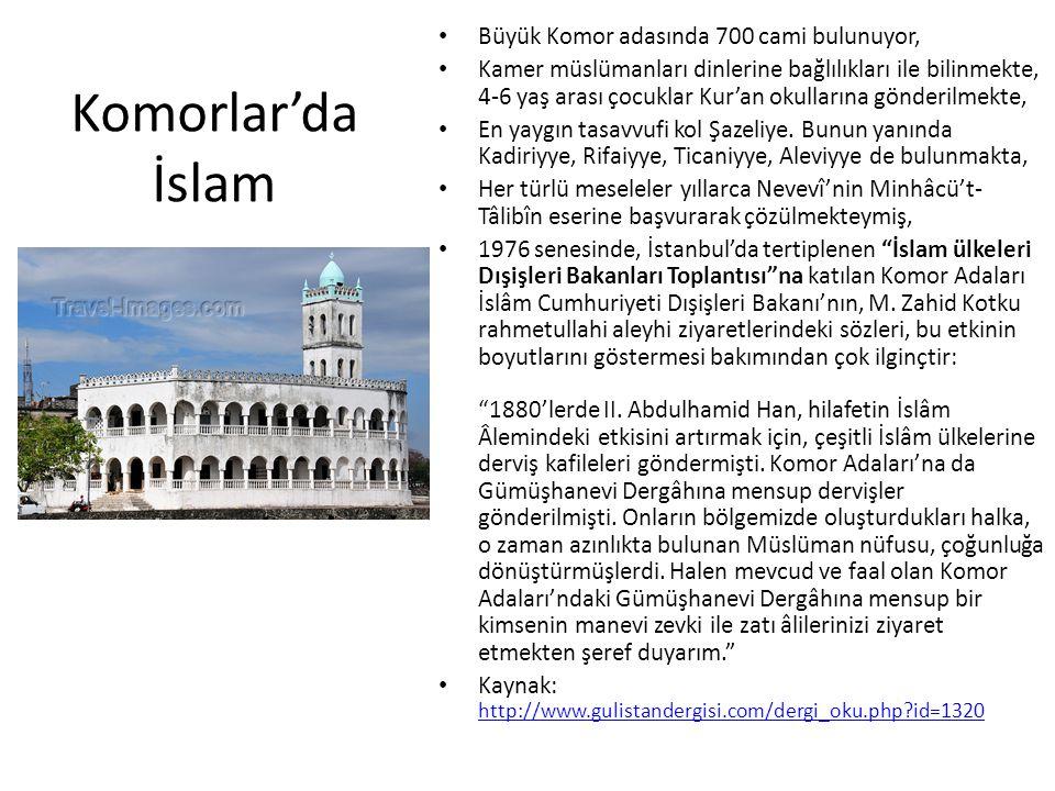 Komorlar'da İslam Büyük Komor adasında 700 cami bulunuyor,