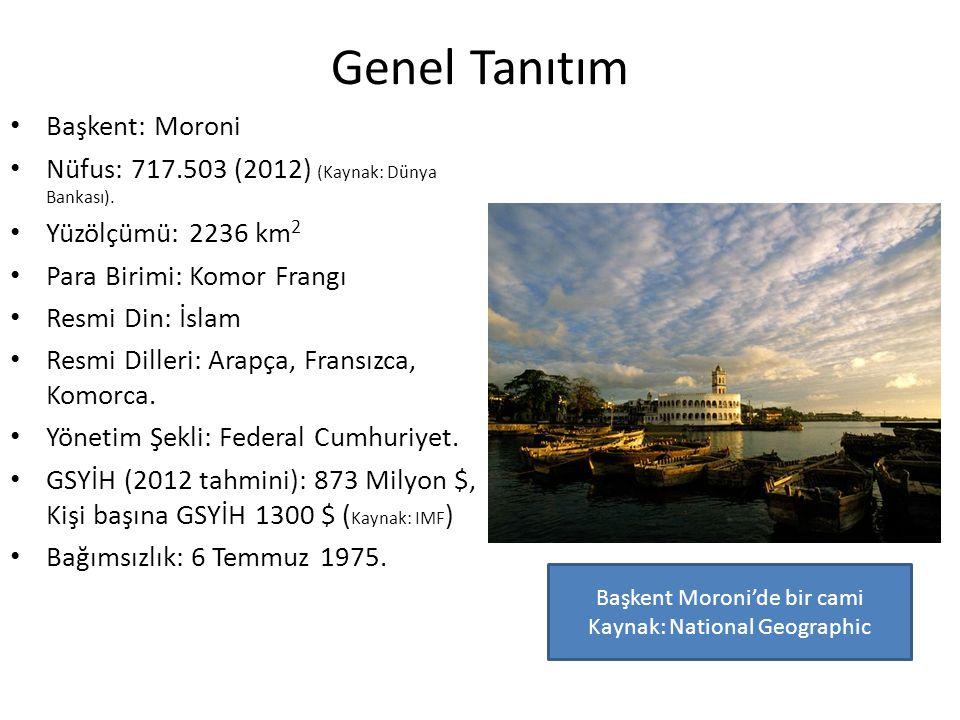 Başkent Moroni'de bir cami Kaynak: National Geographic