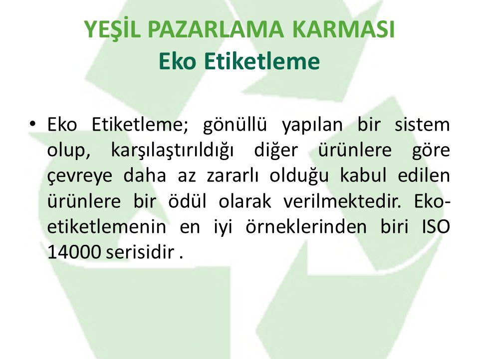 YEŞİL PAZARLAMA KARMASI Eko Etiketleme