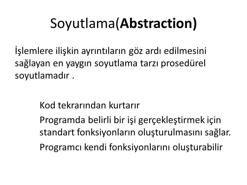 Soyutlama(Abstraction)