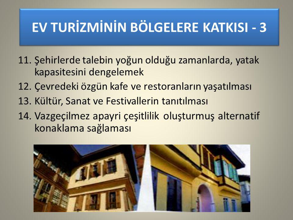 EV TURİZMİNİN BÖLGELERE KATKISI - 3