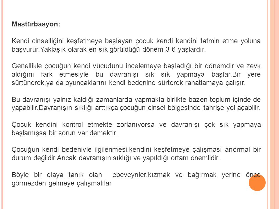 Mastürbasyon: