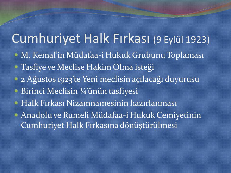 Cumhuriyet Halk Fırkası (9 Eylül 1923)