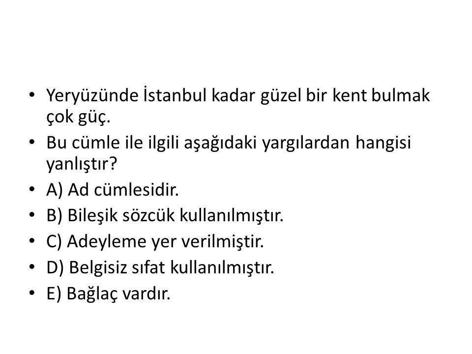 Yeryüzünde İstanbul kadar güzel bir kent bulmak çok güç.